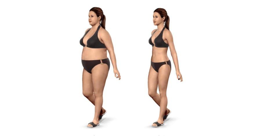 Visualisera hur du gå ner i vikt framför spegeln